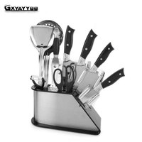 GXYAYYBB High Kitchen racks Quality Creative stainless steel Clean Health Knife Rack Kitchen Bar Storage Block Knife Stand