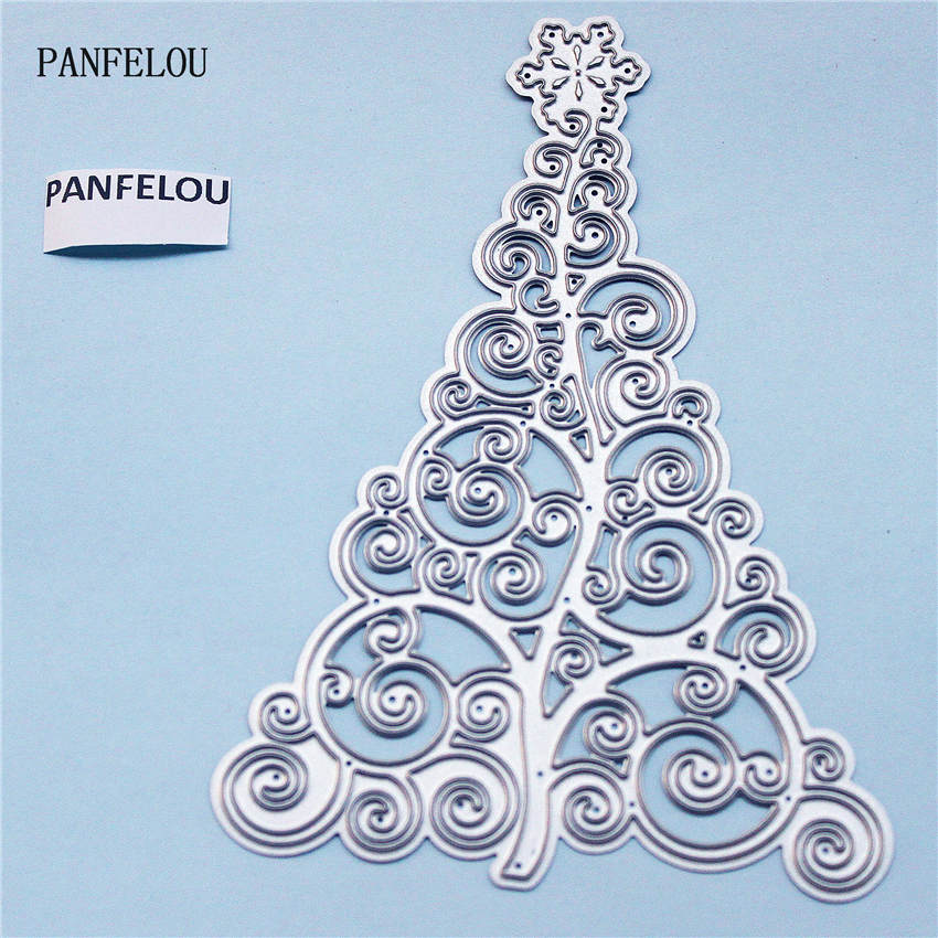 PANFELOU Metal craft Snow tree paper die cutting dies for Scrapbooking/DIY Christmas wedding Halloween cards Hand account