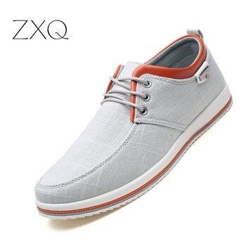 9dc758b0 Zapatos de marca hombres tallas grandes 39-46 zapatos para Hombre Zapatos  casuales de encaje de moda pisos zapatillas de deporte hombres negro  zapatos ...