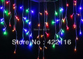 RGB LED String Strip Holiday Festival Curtain Lights Party Fairy Christmas Wedding Decoration Lights 3.5m 100 SMD Ice Bar Lamps