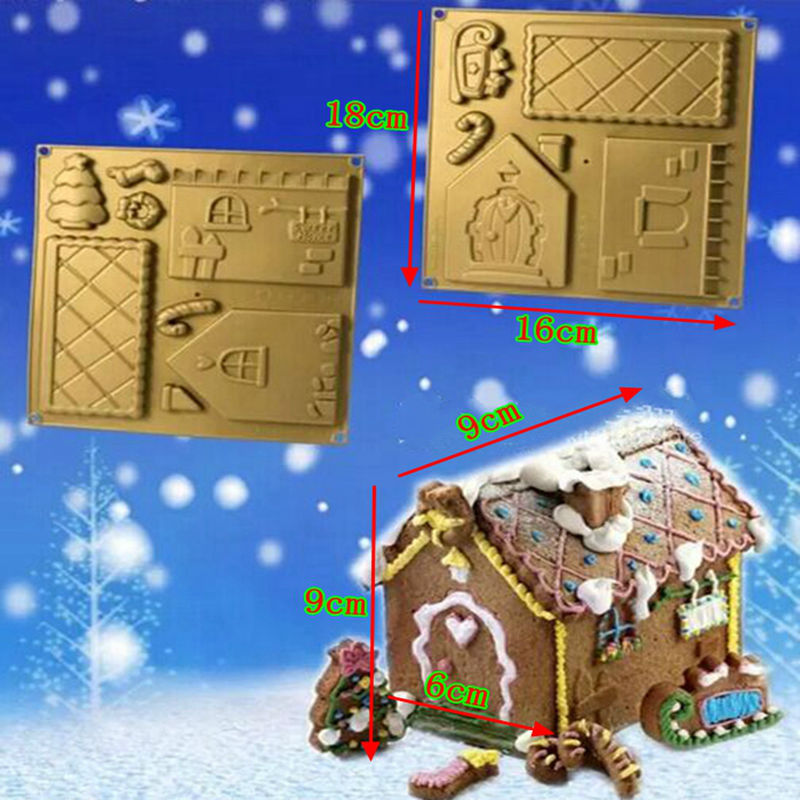 Christmas Gingerbread House Kit.Us 10 8 Christmas House Kit Chocolate Diy Gingerbread House Silicone Mold Baby Favorite Chocolate Design Silicone Mould Free Shipping In Cake Molds