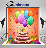 party photography studio background Vinyl cloth High quality Computer print Birthday Cake Balloon backdrops