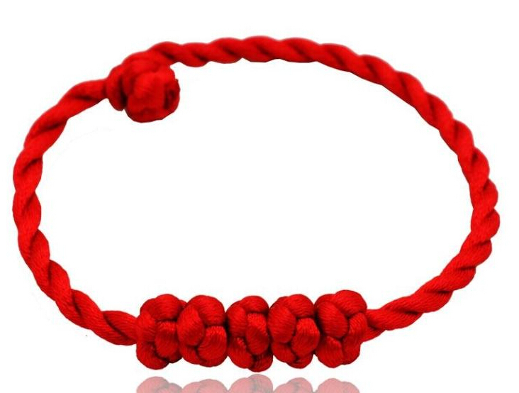 Hot Wholesale Fashion Jewelry 50pcs Handmade Happiness Wujie Braided Lucky Red String Charm Woman Good Bracelets S376