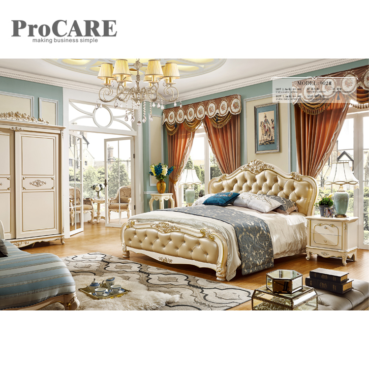 US $1099.0 |Classical bedroom european royal wooden bed designs 902-in  Bedroom Sets from Furniture on AliExpress