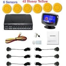 LCD автомобиля Парковочный Сенсор Монитор Автоматической Двухсторонней Резервное Копирование Радар-Детектор Система 6 Датчики 44 цветов выбор