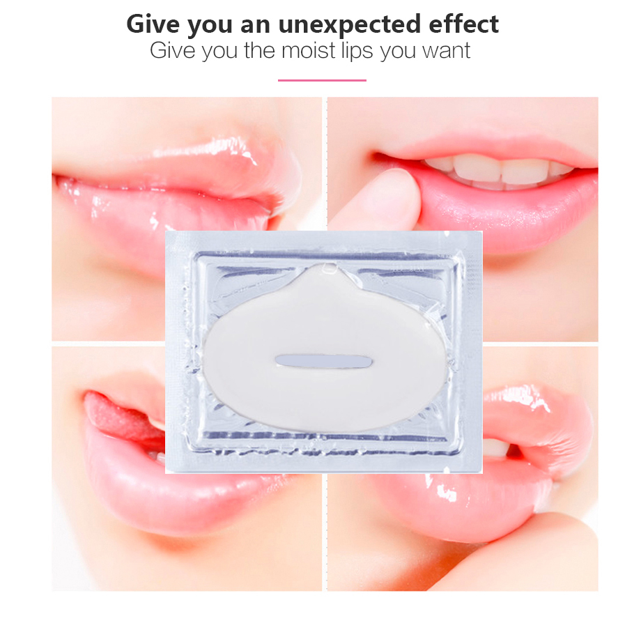 5pack Collagen Moisturizing Lip Mask Crystal Lip Plumper Pads Anti-wrinkle Essence Lips Beauty Anti-aging Mask for Lip