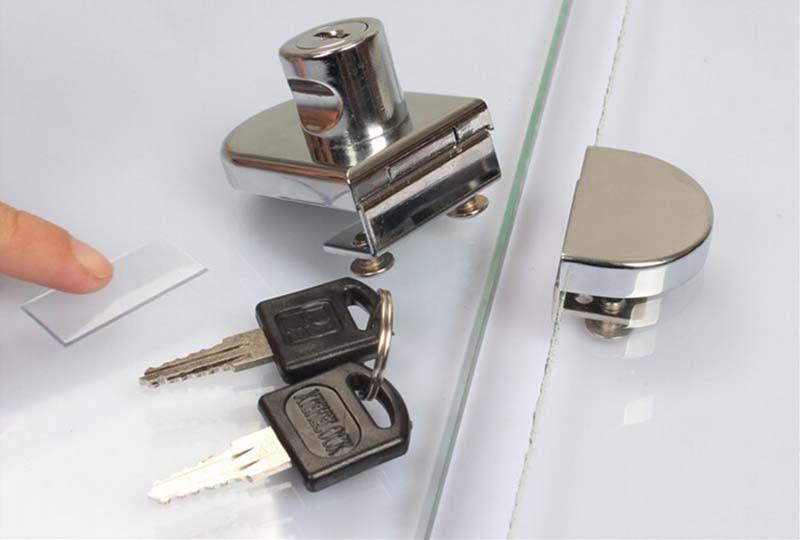 Glass Display Cabinet Locks Zinc Alloy Double Door No