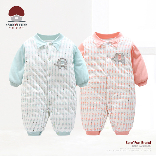 485d630f603b winter jumpsuit baby newborn snowsuit toddler baby boy clothes 0 3 months  newborn cotton coveralls romper little girls clothing
