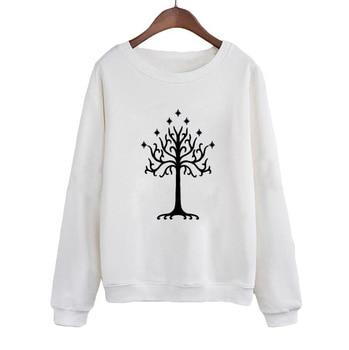 Casual Female Tracksuit White Tree Gondor Sweatshirt Harajuku Jumper Pullover Women Crewneck Hoodies