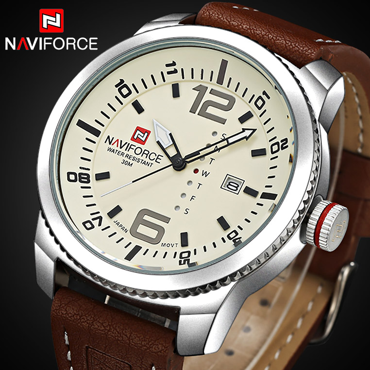 2016 New NAVIFORCE Men Luxury Brand Watches Men's Quartz Date Analog Clock Fashion Sports Watches Man Army Military Wrist Watch 2016 men s brand naviforce fashion sports watches men 3d dial quartz watch man nylon strap army military wrist watches