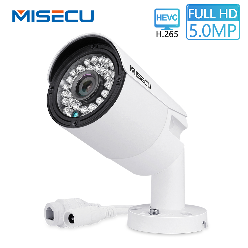 MISECU H.265 IP POE Sicherheit Kamera Im Freien Wasserdichte Video Überwachung Kamera Motion Dectection Onvif FTP Kamera 5MP 4MP 3MP
