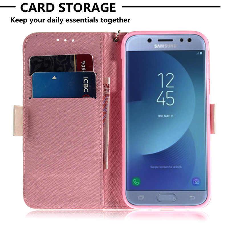 レザーモバイルケースサムスンギャラクシー J5 2016 財布電話カバー保護サムスン J5 2017 J530 J7 2017 J4 j6 プラスケース