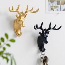 Европейский олень головной ключ для хранения декоративная стена на стене магазин одежды крюк на заказ