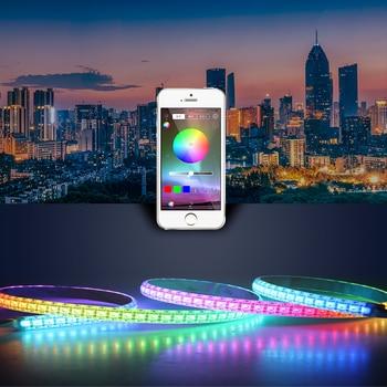 цена на Brightness RGB LED Controller For Led Strip Lighting 5050 Bluetooth APP Controller DC 5V 12V 24V Music Led Strip Remote Control