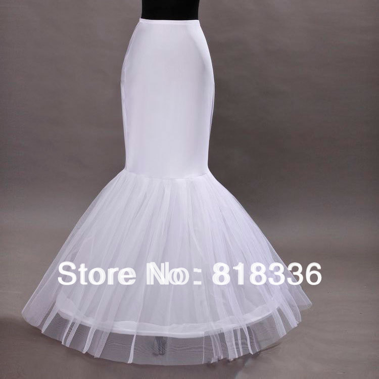 White petticoat crinoline mermaid wedding dress bridal for Mermaid slip for wedding dress
