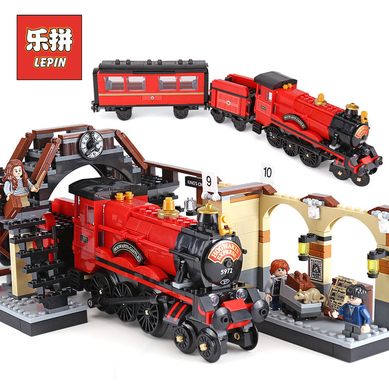 Lepin 16055 the Hogwarts Express Magical Train 75955 Model Building Blocks Legoinglys Harry Toy Children Potter Christmas Gift