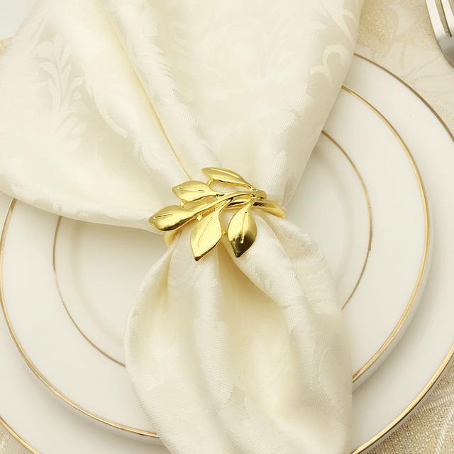 6pcs/lot Fall Leaves Napkin Rings