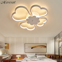 Acrylic Kids Led Ceiling Lights For Study Room Flowers Lighting Fixtures Lampe Plafond Home 36w 54w Lampara Techo