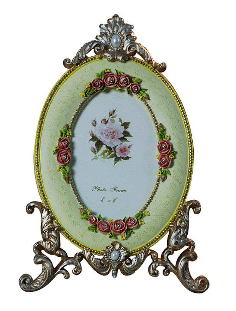 Marriage frames pink red single oval flower photo frames double marriage frames pink red single oval flower photo frames double picture frames family frames for photos christmas new year 2016 in frame from home garden jeuxipadfo Image collections