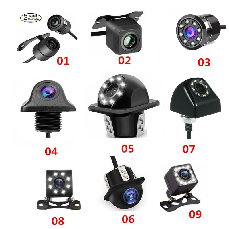Car Backup Camera LED Night Vision Reversing Camera 170 Degree Rear View Camera IP69 Waterproof Reverse Rear View Camera