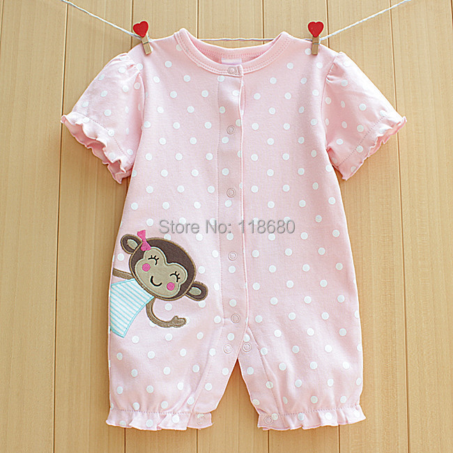 d2b4d3e24 new 2014 summer rompers baby clothes Newborn short sleeves romper ...