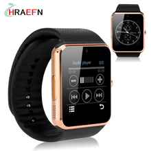 GT08 HRAEFN Reloj Inteligente bluetooth smartwatch hombre montre conector wearable dispositivos IOS de Apple iphone Android samsung huawei