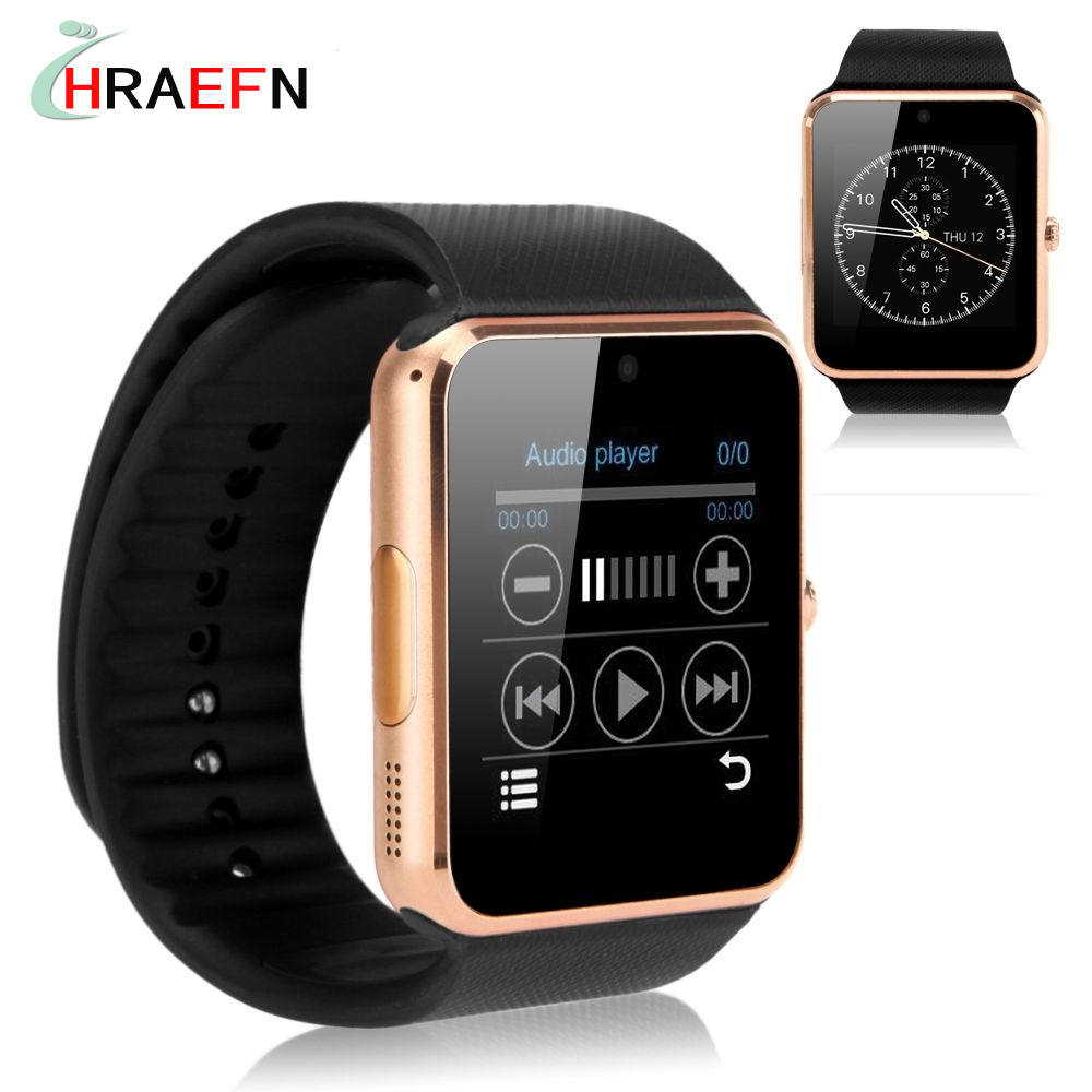 imágenes para Reloj inteligente bluetooth smartwatch Sincronización GT08 Notificador montre conector wearable dispositivos IOS de Apple iphone Android samsung huawei