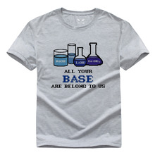 Free Shipping All Your Base Chemistry Men and women Pure cotton With short sleeves T-shirt S-XXXL