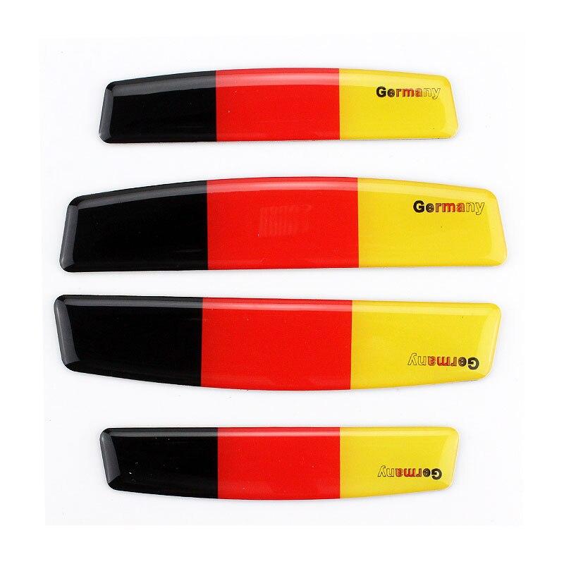 4шт двери Анти-столкновение автомобиля стикер 3D Германия флаг эмблема автомобиля стайлинг творческий знак логотип протектор аксессуары