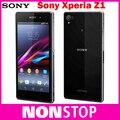 Разблокирована Sony Xperia Z1 L39H C6903 Мобильного Телефона 16 ГБ четырехъядерный процессор 3 Г и 4 Г GSM, WIFI, GPS 5.0 ''20. 7MP Сотовый Телефон