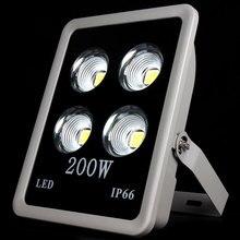 1 шт. COB прожектор 200 Вт из светодиодов Projecteur прожектор водонепроницаемый IP65 из светодиодов уличный фонарь наружного освещения теплый / холодный белый