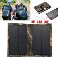 MVPower Plegable Panel Solar 5 V 3 W/1 W 6 V Salida USB Cargador Solar Power Bank Para Policristalino Del Panel Solar Del Teléfono inteligente