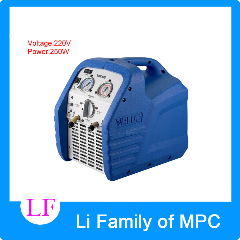 High reliable Mini Refrigeration recovery units VRR12L  compliant AC 220V genuine leap brand refrigeration tools over the mini cylinder refrigerant recovery machine vrr12l refrigerant recovery machine