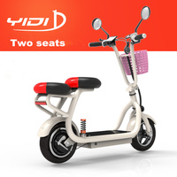 YIDI 2 места 48 в 500 Вт/580 Вт 10 дюймов Электрический Скутер Складной велосипед мини двухколесный литиевая батарея городской скутер