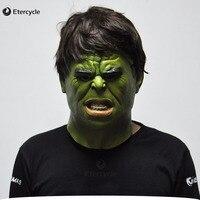 O Hulk Filme Cosplay Halloween Realista Máscara De Látex Rosto Cheio Máscaras de Super-heróis Traje Adulto Adereços Brinquedos