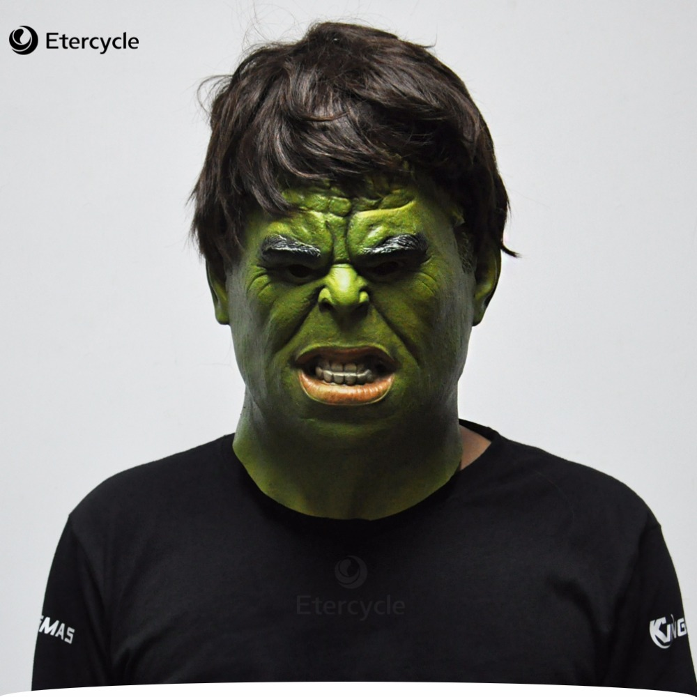 the hulk masks superhero movie cosplay halloween realistic full face latex mask adult costume