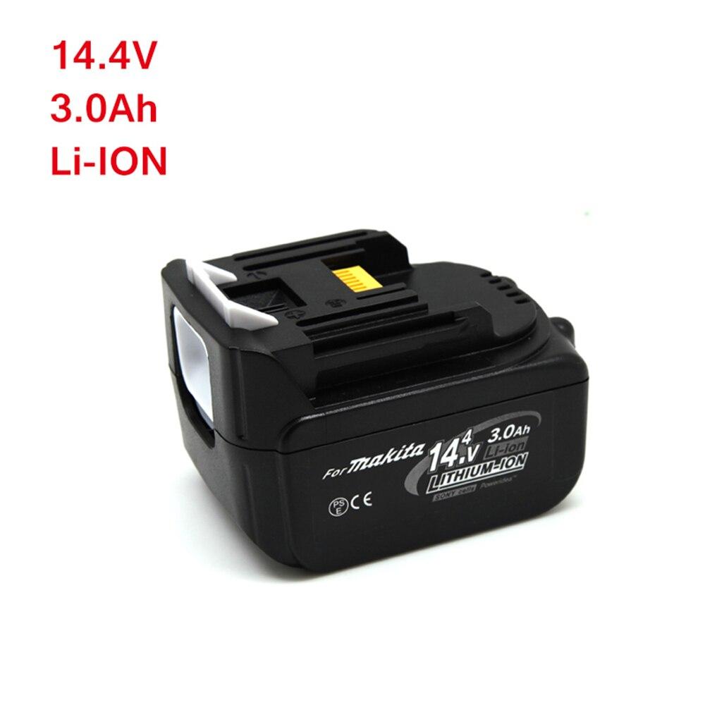 Batteries rechargeables en pleine nature pour batterie d'outils électriques Makita 3000 mAh 14.4 v BL1430