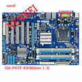 Para gigabyte ga-p45t-es3g original motherboard p45 desktop motherborad p45t-es3g placas atx lga 775 ddr3 16 gb