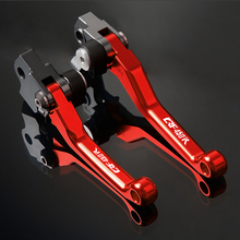 Motocross Pit bike CNC Pivot Brake Clutch Levers Handle For Honda CRF450R CRF 450R CRF450 R 2007- 2018 2008 2009 2010 2011 2012 цена в Москве и Питере
