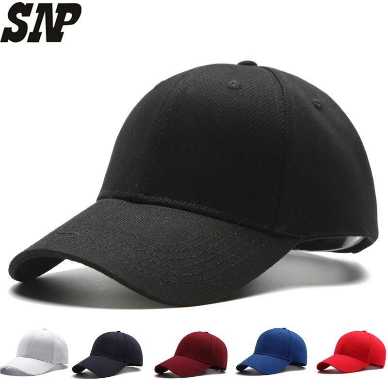 Черный мужской Бейсболки для женщин Snapback шляпа для Для мужчин женщин крышка досуга Bone Шапки DAD Cap Casquette бейсболка Gorras 56-59 см