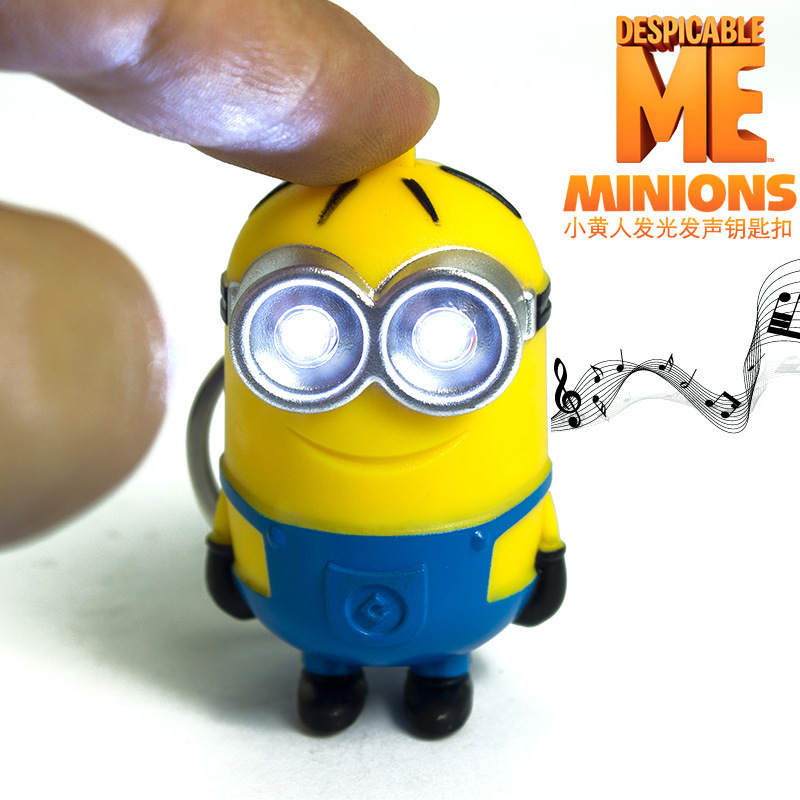 New arrive 3D minions LED Keychain talk minions,flashlight keyring with sound,gift for lovers,car bag pandent 3# сушка для овощей endever skyline fd 59