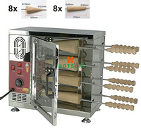 Commercial 16 Rolling Pins 110V 22V Electric Ice Cream Corn Chimney Cake Oven Kurtos Kalacs Oven