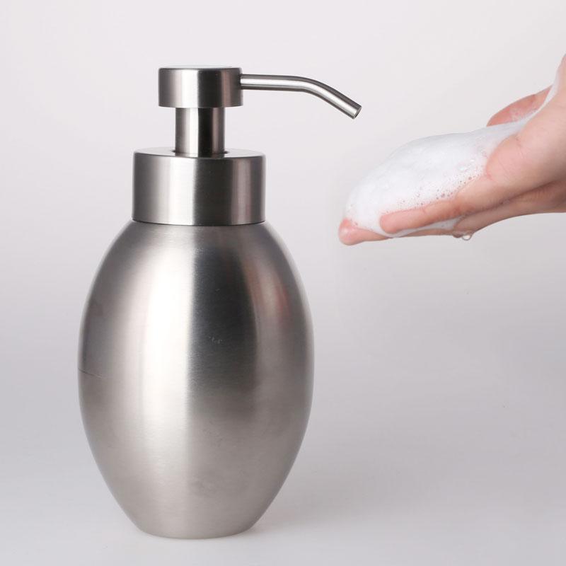 stainless steel soap dispenser bottle emulsion pump foam scrub 580ml - Soap Dispenser Pumps