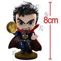 Filme quente Doutor Estranho O Dr. Steven DC Super Heroes Estilo Q Figura de ação Boneca Bonito PVC Coleção Modelo Brinquedos Presente para As Crianças