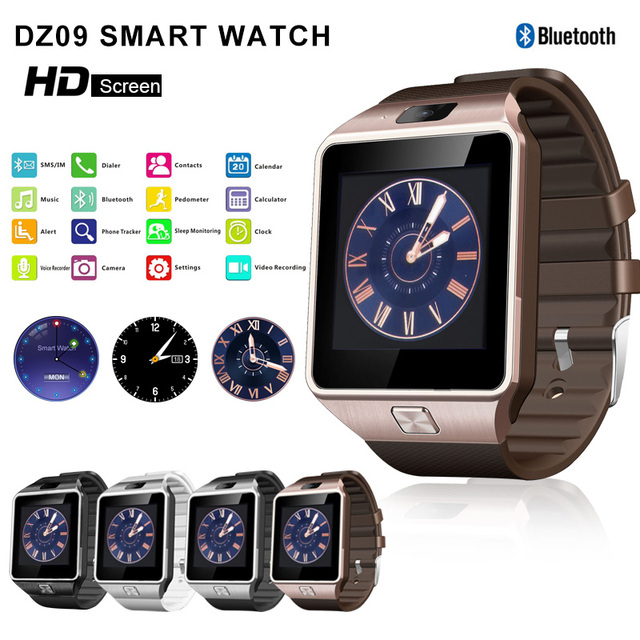 2463dac63f6 DZ09 Bluetooth Smart Watch 2018 Smartwatch Android Men sport relogio  inteligente dz 09 Watches For Android