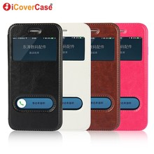 Window View Flip Cover Case For iPhone 7 Plus 5s 5 SE Quick Answer Smart Leather Case Phone Bag For iPhone 6 6s Plus Coque Cover