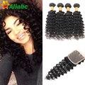 Peerless Virgin Hair With Closure Virgin Peruvian Deep Curl Hair With Closure Grade 7a Peruvian Hair With Closure 4 Bundles