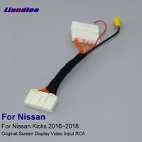 Liandlee For Nissan Kicks 2016~2018 High End Car 32 pins Edition RCA Adapter Wire Rear View Camera Original Display Input Cable
