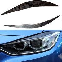 For BMW F32 F36 F82 M4 Carbon Fiber Headlight Eyebrows Eyelids 2014UP