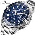 PAGANI Дизайн Нержавеющая сталь мужские часы люксовый бренд хронограф Спорт Бизнес водонепроницаемые кварцевые наручные часы Мужские часы